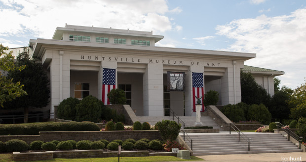 Main entrance to the Huntsville Museum of Art.