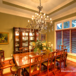 Dining room in luxury Waterfront property
