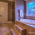 Master bath feature Rainshower heads and jets