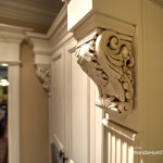 Architectural detailing in custom cabinets.